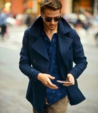 Мужской бушлат: С чем носить двубортное полупальто