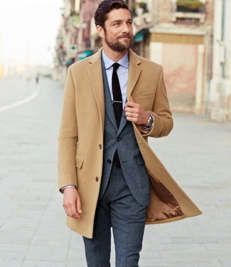 10 Camel Overcoat Outfit Ideas