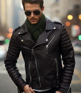Кожаная куртка: с чем носить и где купить (100+ фото)