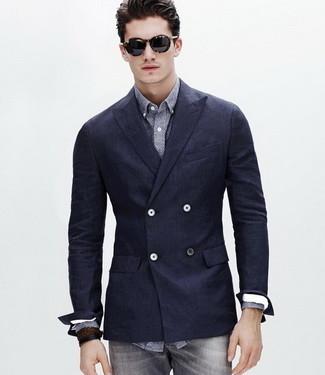 Двубортный пиджак: в чем его отличие от однобортного, как его застегивать и с чем носить