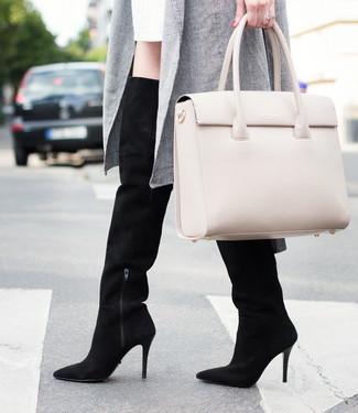 Wie trag ich's im Büro? Overknee Stiefel alltagstauglich kombiniert!