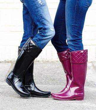 6 Formas de como llevar unas botas de agua: De bonito a clásico